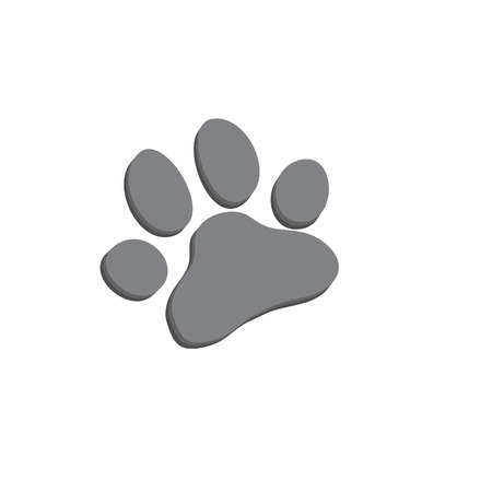 Dog paw icon of dog. Illustration for zoo design. Vector