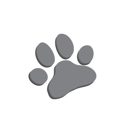 Hond poot icoon van de hond. Illustratie voor dierentuin ontwerp.