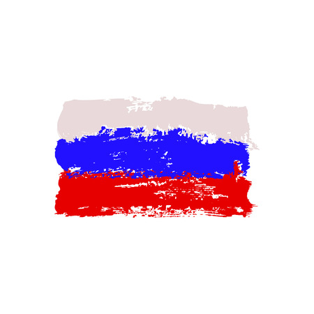 russian flag: Russian flag painted by brush hand paints. Art flag. Abstract background symbolizes the countrys patriotism and pride to the country.