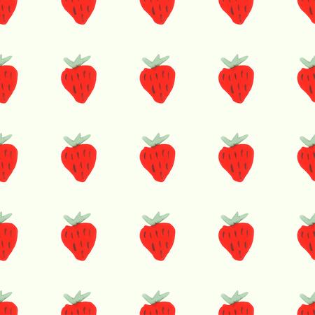 condones: Patr�n transparente de fresas maduras rojos. Modelo incons�til natural de frutas del jard�n Vectores