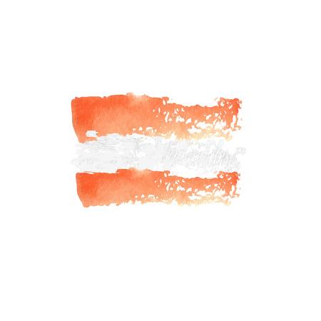 austrian: Austrian flag painted by brush hand paints. Art flag. Illustration