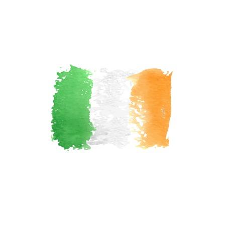 ireland flag: Ireland flag painted by brush hand paints. Illustration