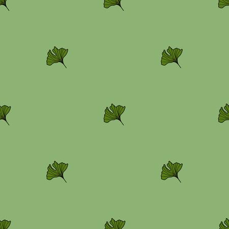 ginkgo: Ginkgo biloba pattern seamless.  Silhouette of ginkgo leaves
