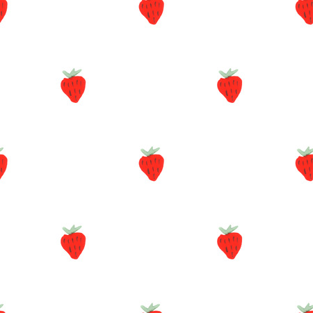 condoms: Watercolor strawberry pattern. Seamless pattern of hand drawn strawberries.