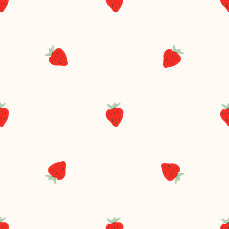 Watercolor strawberry pattern. 矢量图像