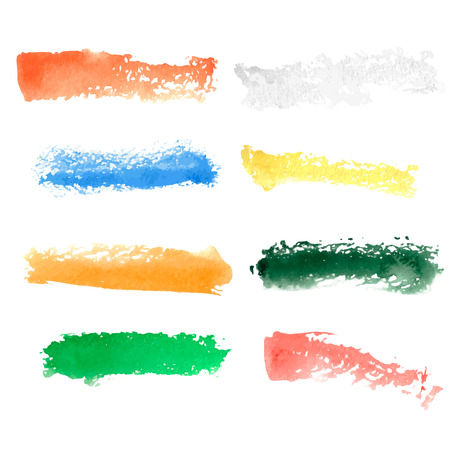 picker: Colorful vector watercolor brush strokes. Color picker of blots for your design.