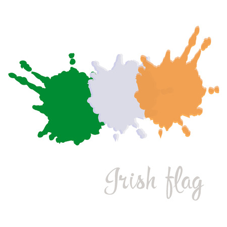 irish pride: Irish flag painted by brush hand paints. Art flag. Abstract background symbolizes the countrys patriotism and pride to the country. I love Ireland