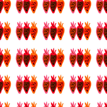 beet root: Seamless pattern of colored beet root painted by hand. Illustration