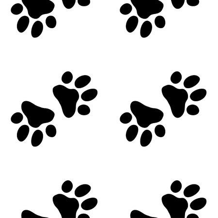 huellas perro: Modelo del perro de la pata. Ilustraci�n para la impresi�n zool�gico