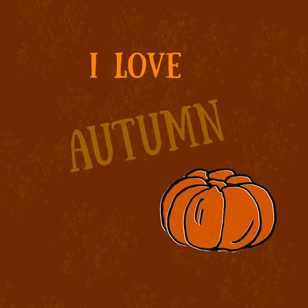 autumn harvest: Autumn - harvest pumpkins.  Pumpkin print.   The organic product.