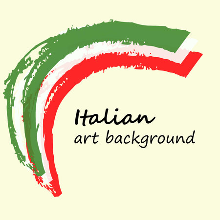 italy background: Creative background in the Italian colors. Italy art flag. Arc