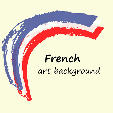 arc: Creative background in the French colors. France art flag. Arc. Illustration