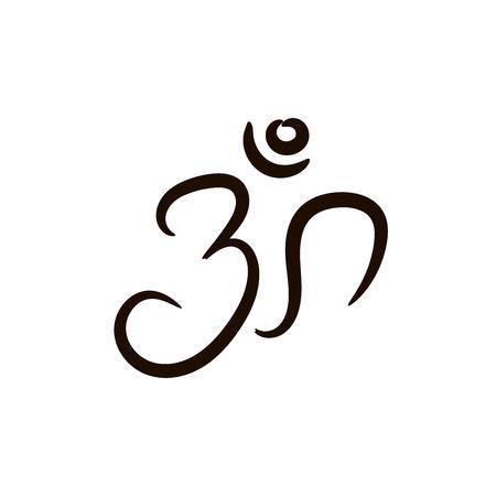 sanskrit: Sign vector Hindu Om Icon in Tamil