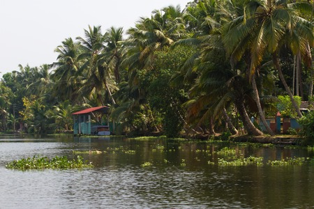 alappuzha: Allepey, Kerala, India, March 31, 2015: Bus stops in the Alappuzha city Editorial