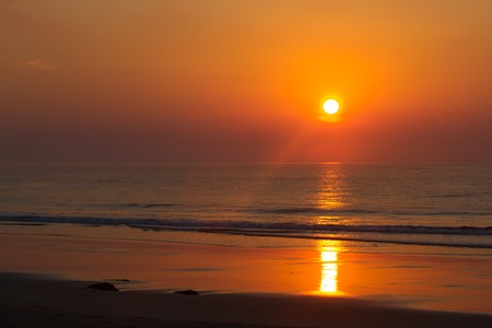 pink sunset: Pink sunset in ocean. India, Andaman island. Beach orange evening