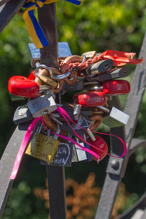 Bunch of locks. Metal lock. Security, safe