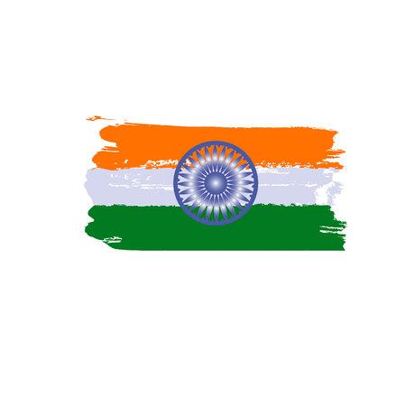 Splash art india flag. Indian republic day. Freedom celebration. 26th January. Grunge illustration.