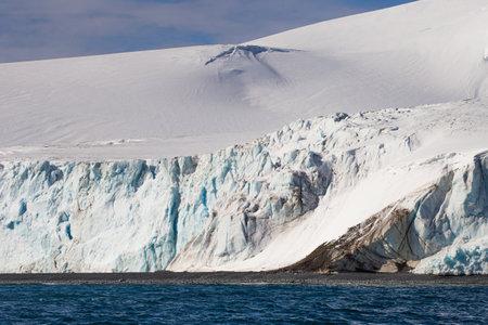 Icebergs landscape. Extreme travelling, Antarctica ice landscape. Climate change.