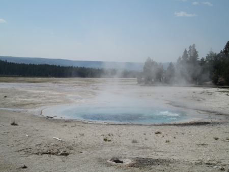 Hot water spring at Yellowstone National Park