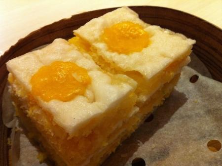 to cake layer: Al vapore uovo torta a strati