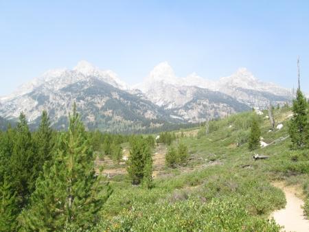 Beautiful shot of the Moran ranges at Grand Teton National Park Stock Photo