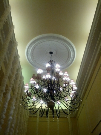 bright: Interior grand ceiling light Stock Photo