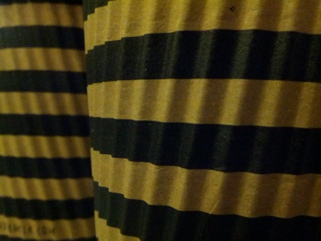 surface: Yellow and black stripe texture