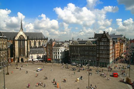 Amsterdam the Netherlands a landscape a beautiful kind the blue sky photo