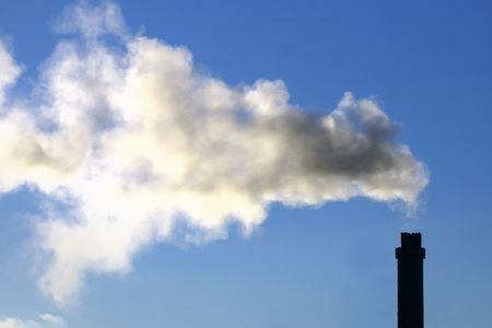 emissions: Dirty emissions on the blue sky very bad