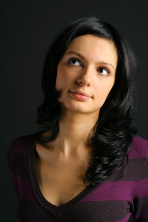 sexual pleasure: Portrait the girl beautiful sexual pleasure passion in a sight brunette