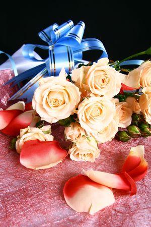 Muy bellas flores y olores suaves tarjeta rosa Foto de archivo - 2179865