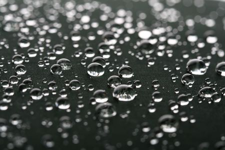 cool rain waterdrops on black photo