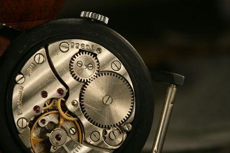 clockworks device engine gears close up Stock Photo - 2475356