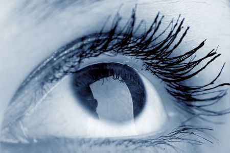 dilate: beauty blue eye look at you