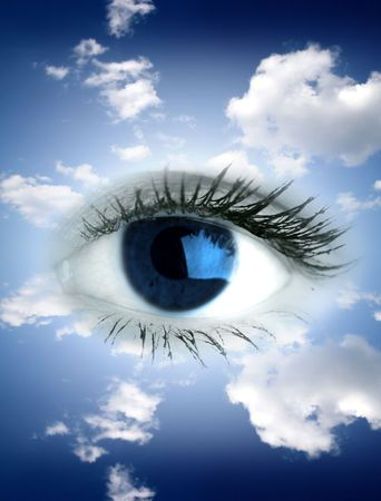 Beautiful big blue eye in sky Stock Photo - 2511787
