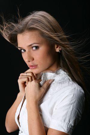 charisma: beautiful young girl on back