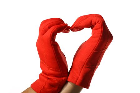 red hands show heart Stock Photo - 2553991