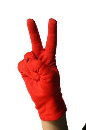 yo: yo hand red fingers two