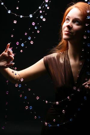charisma: diamonds red hair model beautiful girl