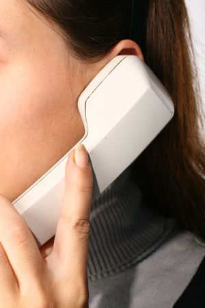 phone ring in human hand on white Stock Photo - 2626423