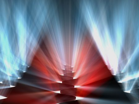 visualisation: abstract background 3d red blue volume light
