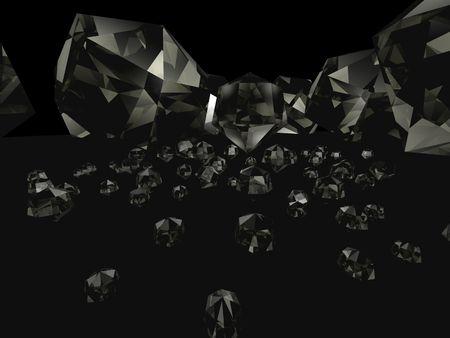 3d diamonds black macro big angrie Stock Photo - 2626431