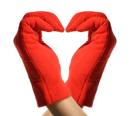 red hands show heart Stock Photo - 2613321