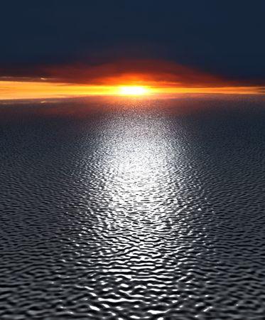 reflect: 3d water landscape sky reflect