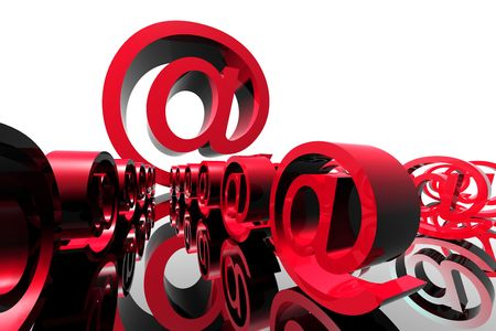 incoming email character 3d abstract mail concept Stock Photo - 2670821