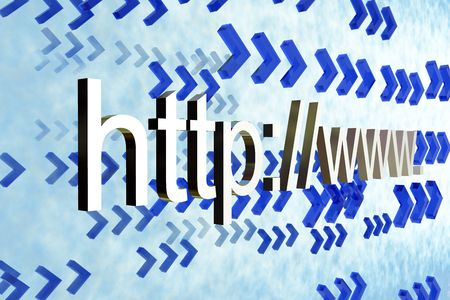 http  www: http www go to website 3d abstract concept