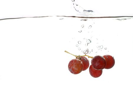 grape water splash isolated freshness concept Stock Photo - 2975126