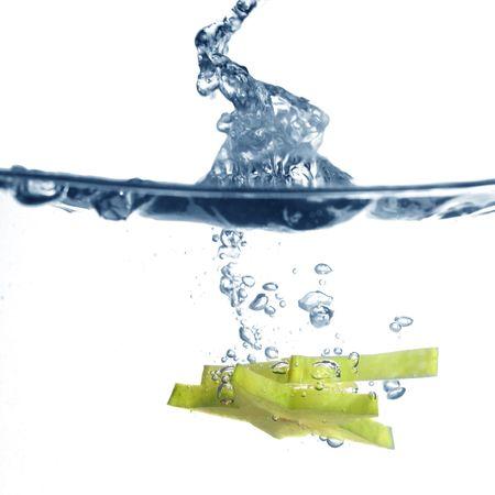carambola: carambola splash fruit freshness background Stock Photo