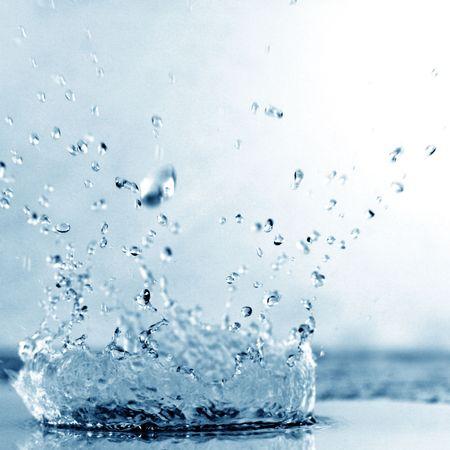blue water splash nature background