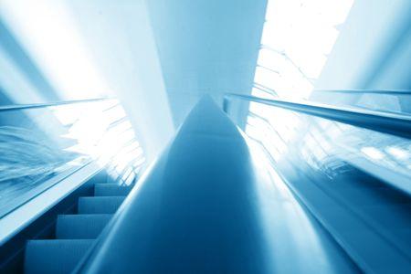blurred escalator speed transportation background photo